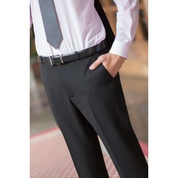 Pantalón hombre sin pinzas microfibra