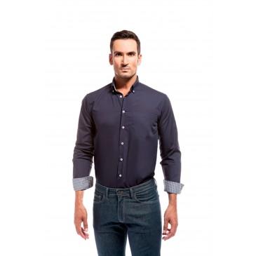 Camisa hombre combinada vichy
