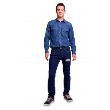 Pantalón hombre vaquero elástico