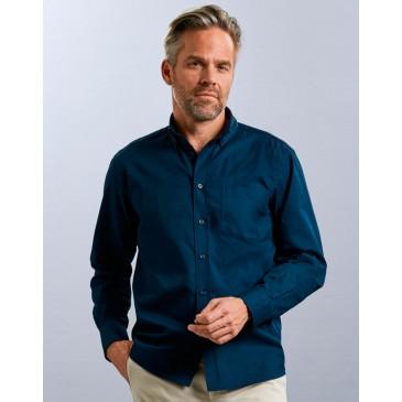 Camisa clásica sarga manga larga