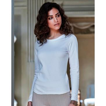 Camiseta manga larga Interlock mujer