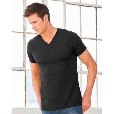 Camiseta cuello V Triblend unisex