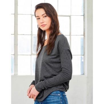 Camiseta Flowy manga larga 2x1 mujer