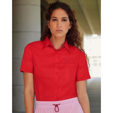 Camisa Popelin manga corta mujer