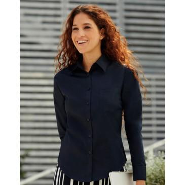 Camisa Popelin manga larga mujer