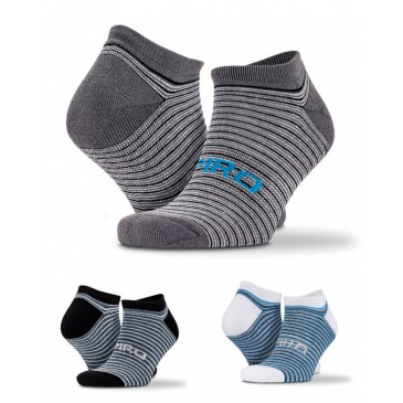 Calcetines deportivos a rayas, pack de 3