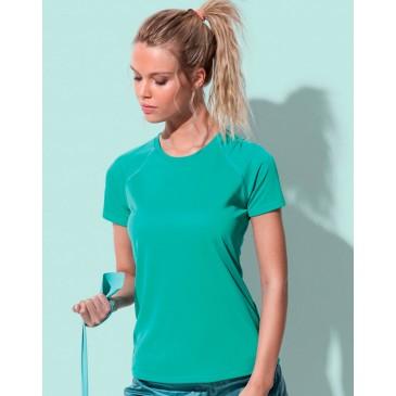 Camiseta Active 140 manga raglan mujer