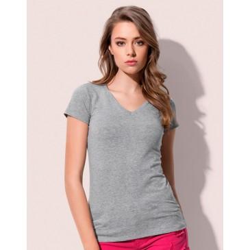 Camiseta Claire cuello V mujer