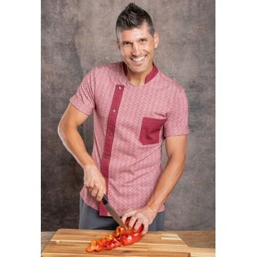 Chaqueta cocina unisex tejido orgánico y fibra kapok